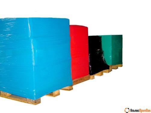 Отходы стрейч-плёнки цветные чистые