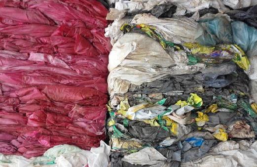 Отходы ПВД плёнки цветные загрязнённые