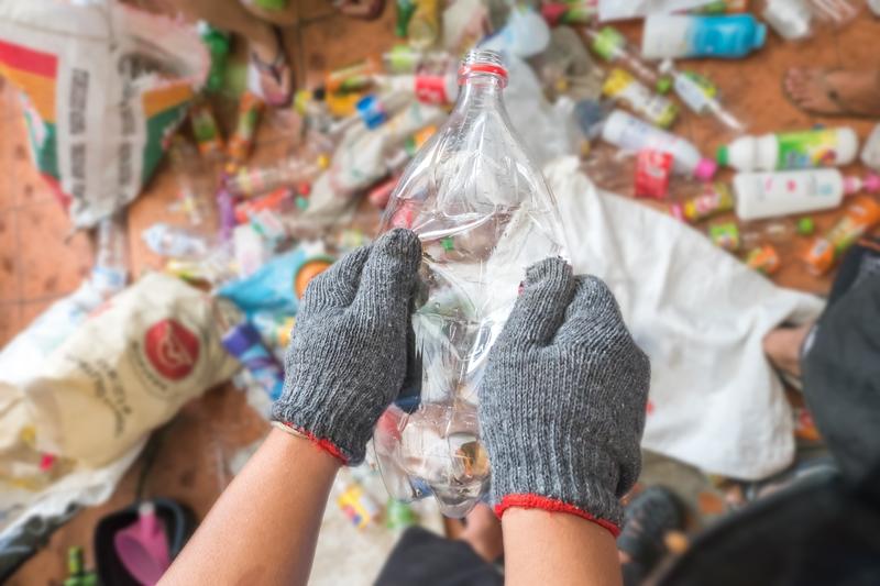 Сбор пластика для переработки