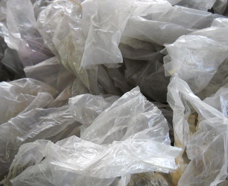 Отходы стрейч-плёнки прозрачные загрязнённые_4