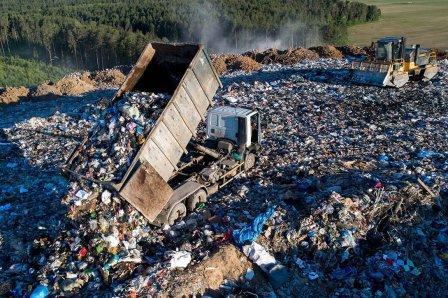 в россии почти закончились резервы мусорных полигонов